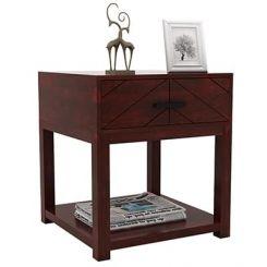Neeson Bedside Table (Mahogany Finish)