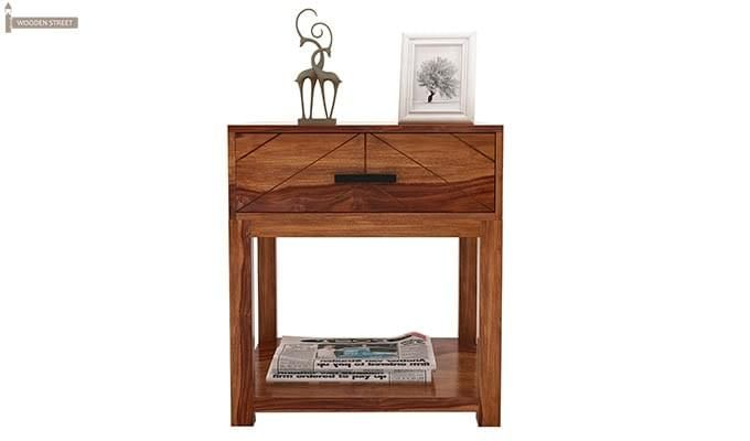 Neeson Bedside Table (Teak Finish)-2