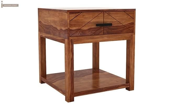 Neeson Bedside Table (Teak Finish)-3