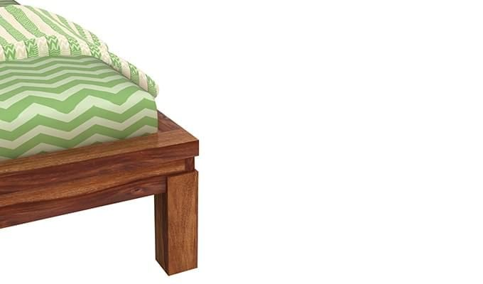 Neeson Bed Without Storage (Queen Size, Teak Finish)-6
