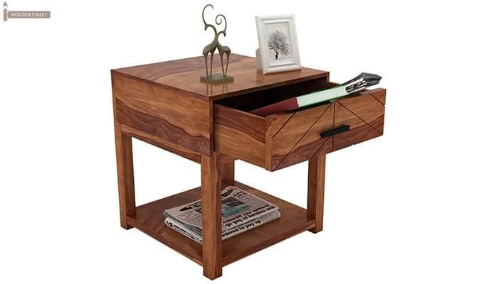 Neeson Bedside Table (Teak Finish)-4