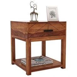 Neeson Bedside Table (Teak Finish)