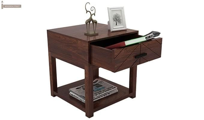 Neeson Bedside Table (Walnut Finish)-3