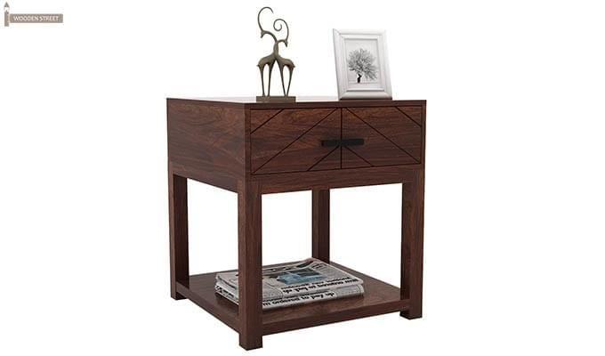 Neeson Bedside Table (Walnut Finish)-4