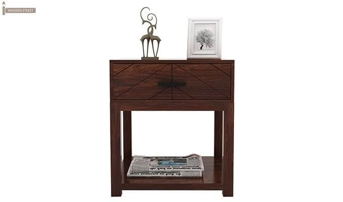 Neeson Bedside Table (Walnut Finish)-5