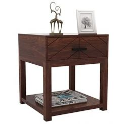 Neeson Bedside Table (Walnut Finish)