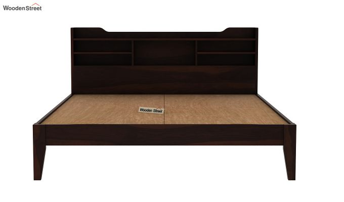 Oretta Bed Without Storage (Queen Size,Walnut Finish)-7