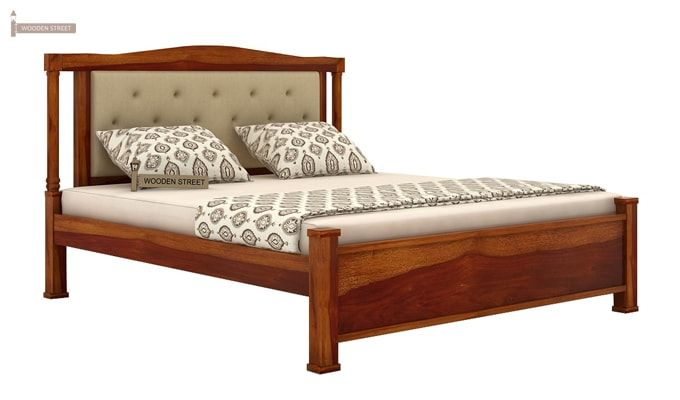 Ornat Bed Without Storage (King Size, Honey Finish)-4