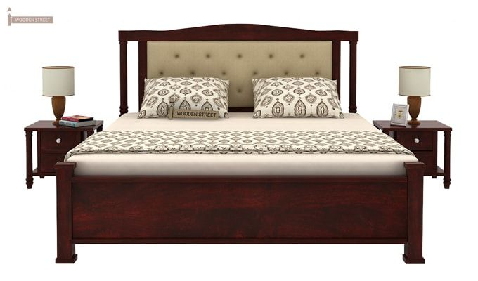 Ornat Bed Without Storage (King Size, Mahogany Finish)-2