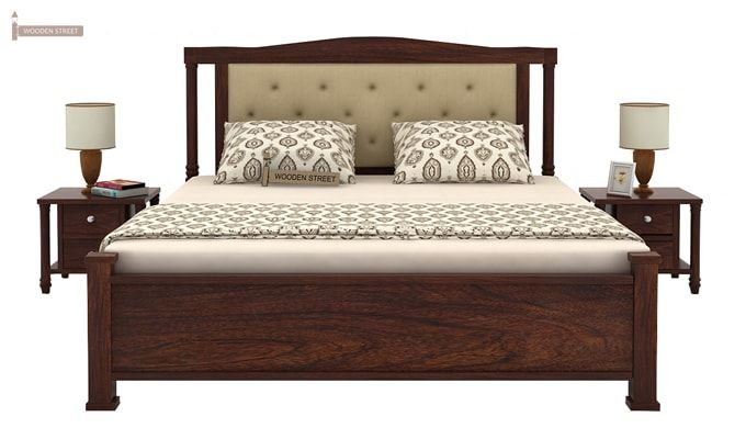 Ornat Bed Without Storage (Queen Size, Walnut Finish)-2