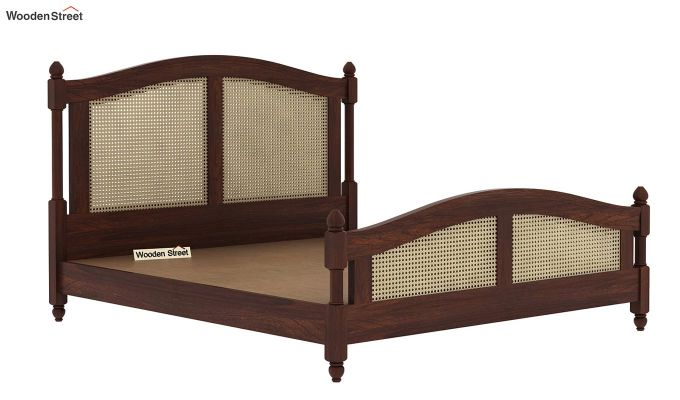 Palm Bed Without Storage (Queen Size, Walnut Finish)-7