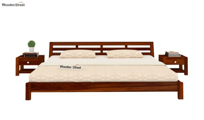 Rico Low Floor Bed (King Size, Honey Finish)-2