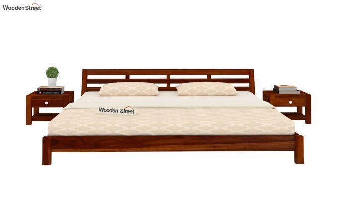 Rico Low Floor Bed (Queen Size, Honey Finish)-2