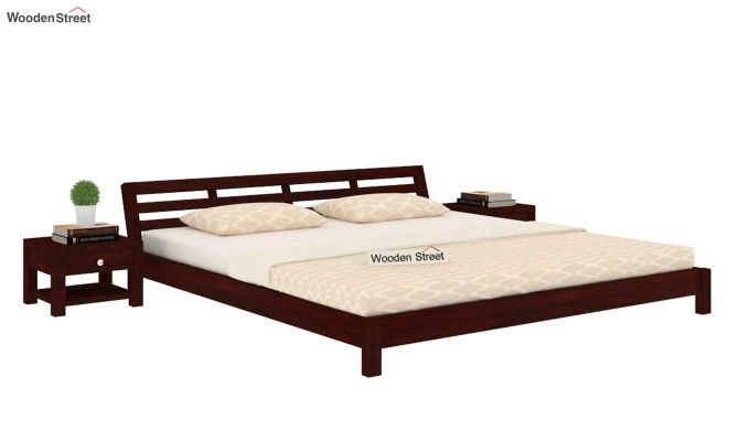 Rico Low Floor Bed (King Size, Mahogany Finish)-1
