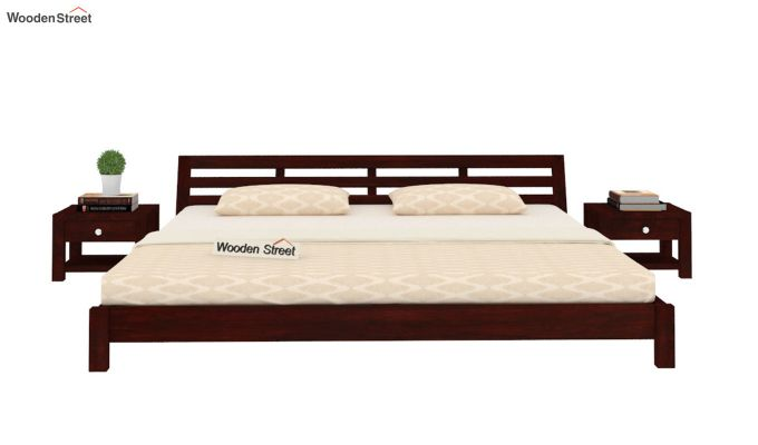 Rico Low Floor Bed (Queen Size, Mahogany Finish)-2