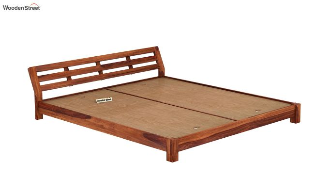 Rico Low Floor Bed (King Size, Honey Finish)-6