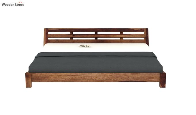 Rico Low Floor Bed (King Size, Teak Finish)-5