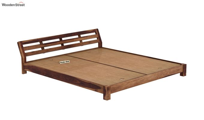 Rico Low Floor Bed (King Size, Teak Finish)-6