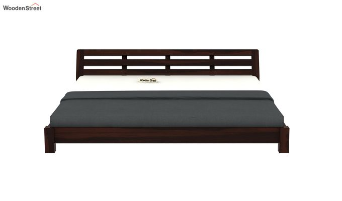 Rico Low Floor Bed (King Size, Walnut Finish)-5
