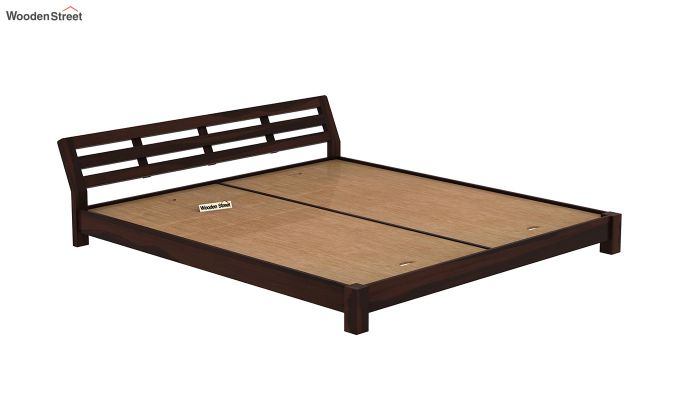 Rico Low Floor Bed (King Size, Walnut Finish)-6