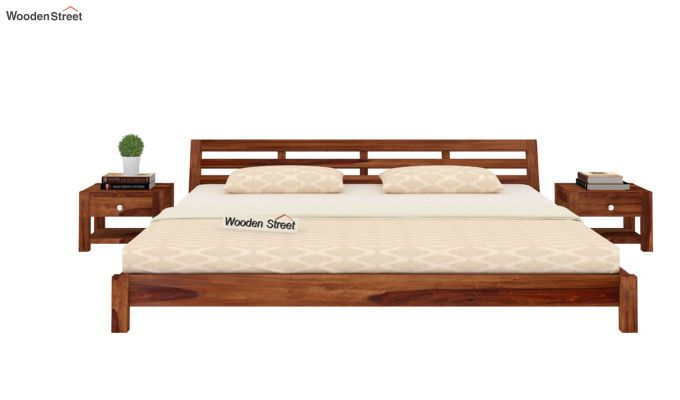 Rico Low Floor Bed (Queen Size, Teak Finish)-3