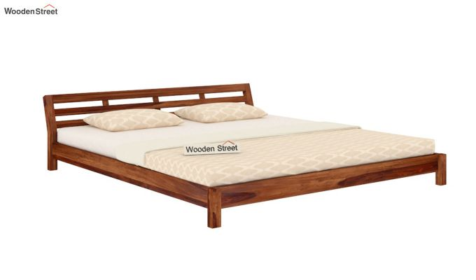 Rico Low Floor Bed (Queen Size, Teak Finish)-4