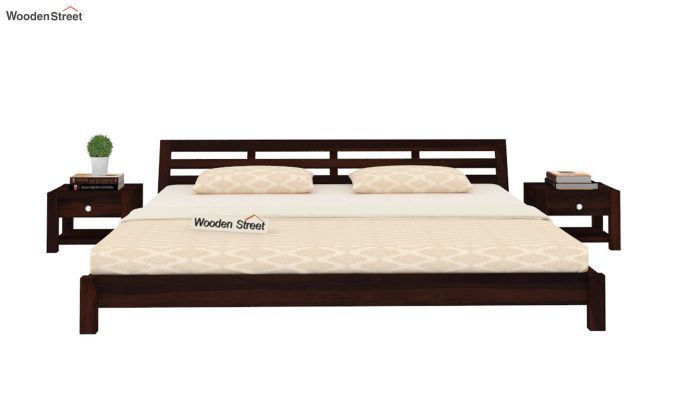 Rico Low Floor Bed (King Size, Walnut Finish)-2