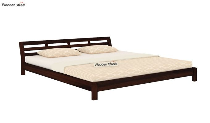 Rico Low Floor Bed (King Size, Walnut Finish)-3