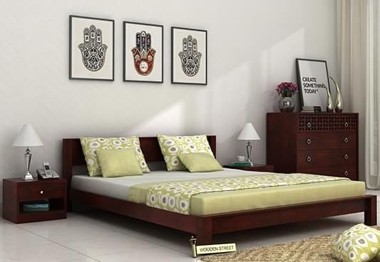buy wooden queen size double beds online at best price