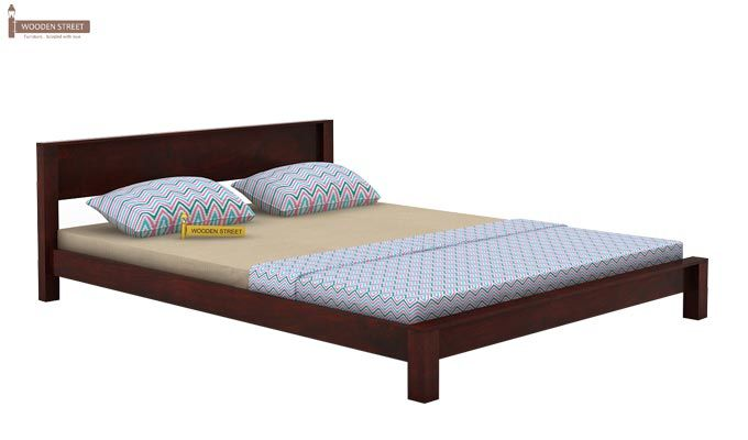 Rooney Low Floor Platform Bed (King Size, Mahogany Finish)-4