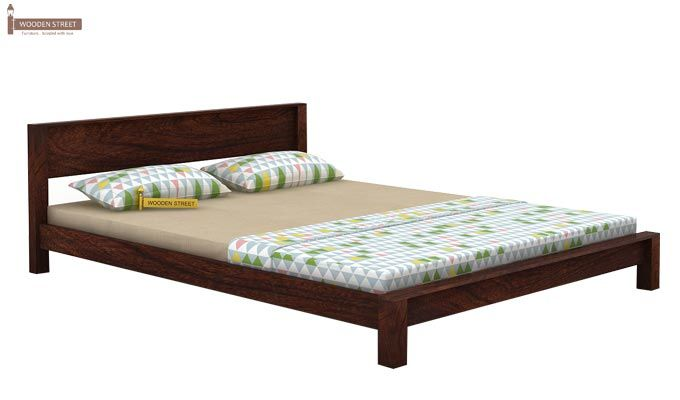 Rooney Low Floor Platform Bed (Queen Size, Walnut Finish)-3