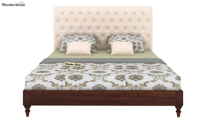 Samberg Upholstered Bed Without Storage (King Size, Egg Shell)-3