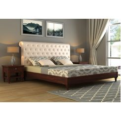 Samberg Upholstered Bed Without Storage (King Size, Egg Shell)
