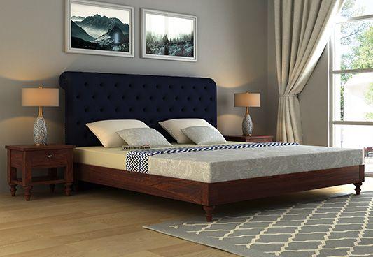 Sleek Upholstered Bed Online Shopping