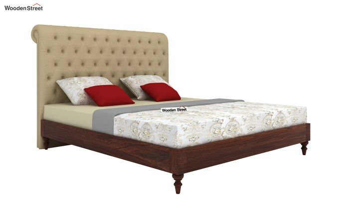 Samberg Upholstered Bed Without Storage (King Size, Irish Cream)-2