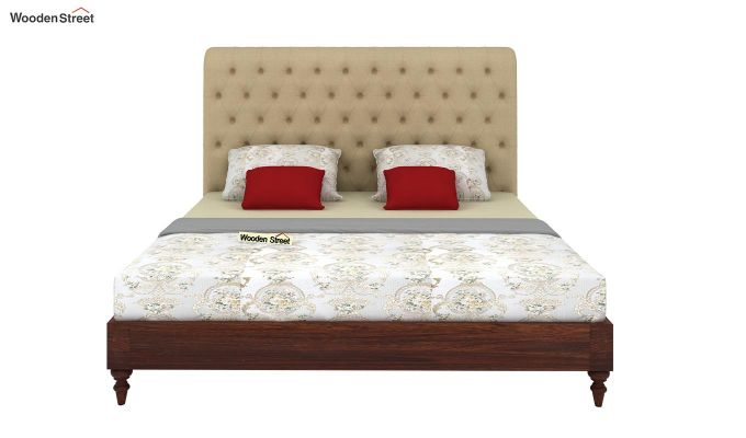 Samberg Upholstered Bed Without Storage (King Size, Irish Cream)-3