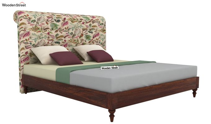 Samberg Upholstered Bed Without Storage (King Size, Rosy Leaf)-2