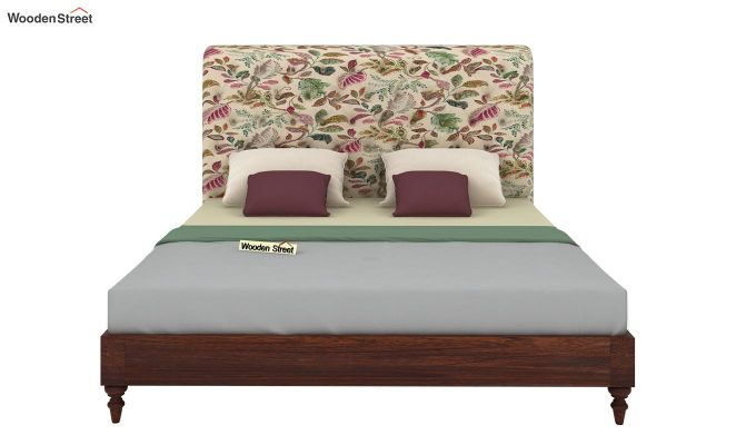 Samberg Upholstered Bed Without Storage (King Size, Rosy Leaf)-3