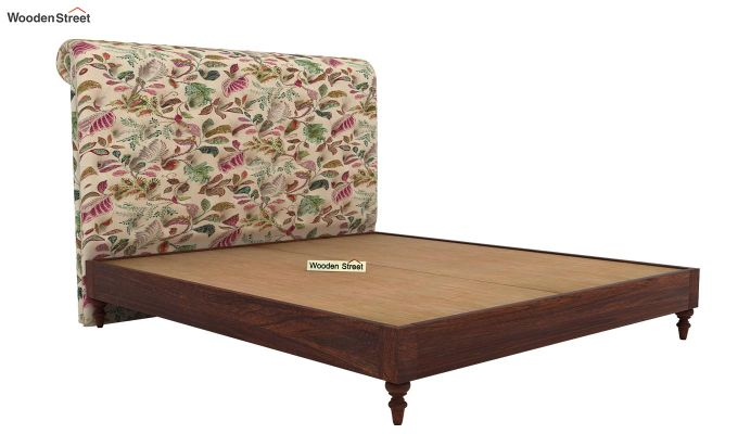 Samberg Upholstered Bed Without Storage (King Size, Rosy Leaf)-4