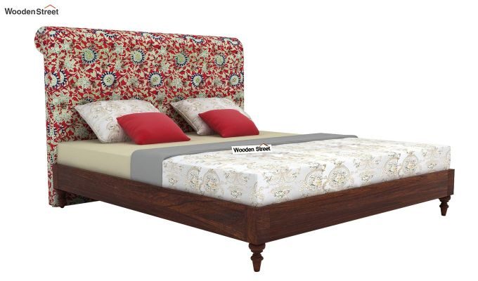 Samberg Upholstered Bed Without Storage (King Size, Scarlet Blue)-2