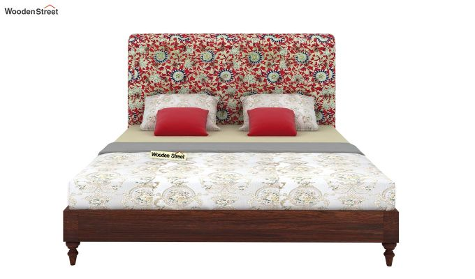Samberg Upholstered Bed Without Storage (King Size, Scarlet Blue)-3