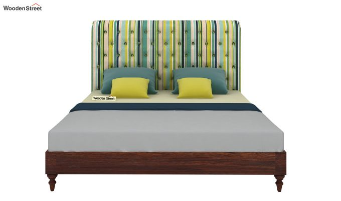 Samberg Upholstered Bed Without Storage (King Size, Striped Smurf)-3