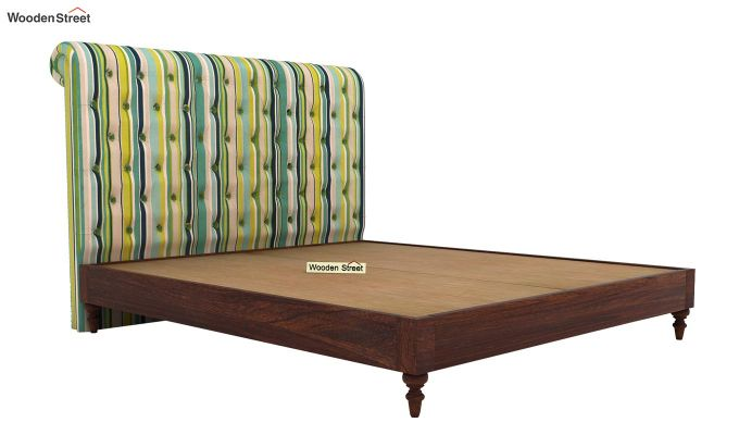 Samberg Upholstered Bed Without Storage (King Size, Striped Smurf)-4