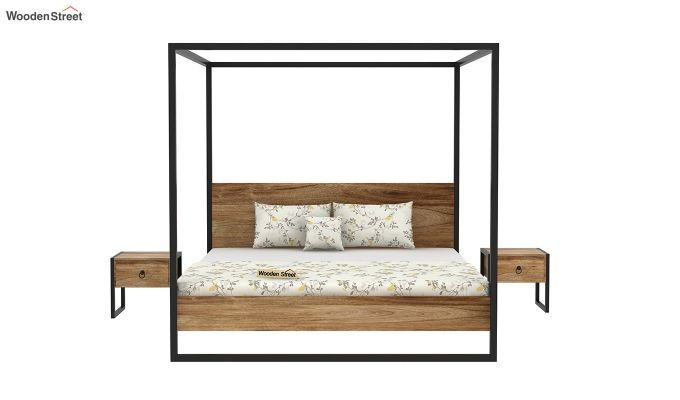 Samboy Loft Poster Bed Without Storage (King Size, Natural Finish)-3