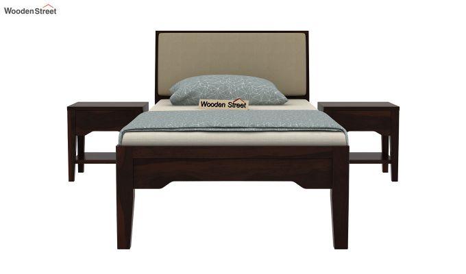 Telos Single Bed Without Storage (Walnut Finish)-3