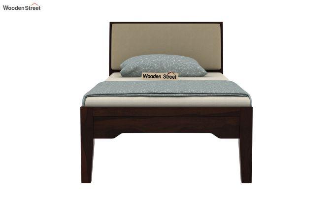 Telos Single Bed Without Storage (Walnut Finish)-5