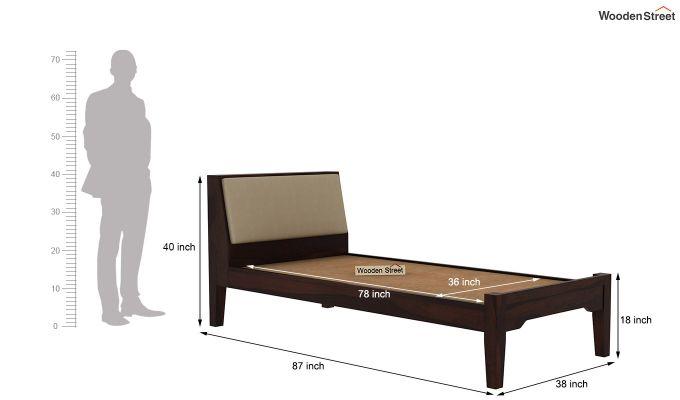 Telos Single Bed Without Storage (Walnut Finish)-8