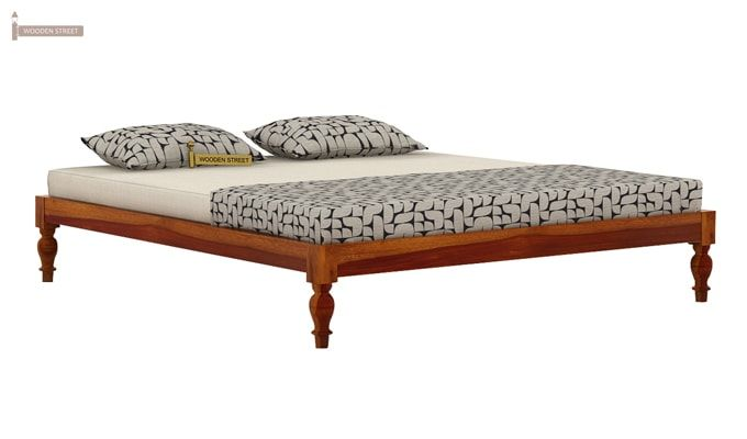 Trae Bed Without Storage (Queen Size, Honey Finish)-3