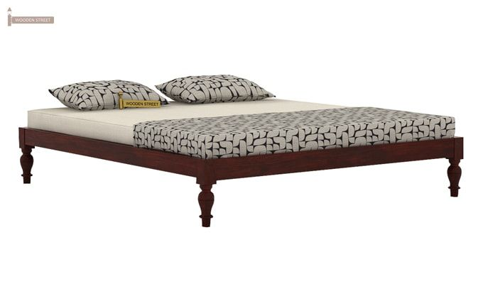 Trae Bed Without Storage (Queen Size, Mahogany Finish)-3