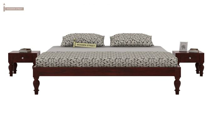 Trae Bed Without Storage (Queen Size, Mahogany Finish)-2